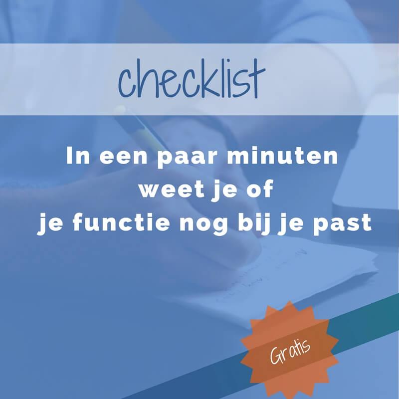 checklist werkplezier